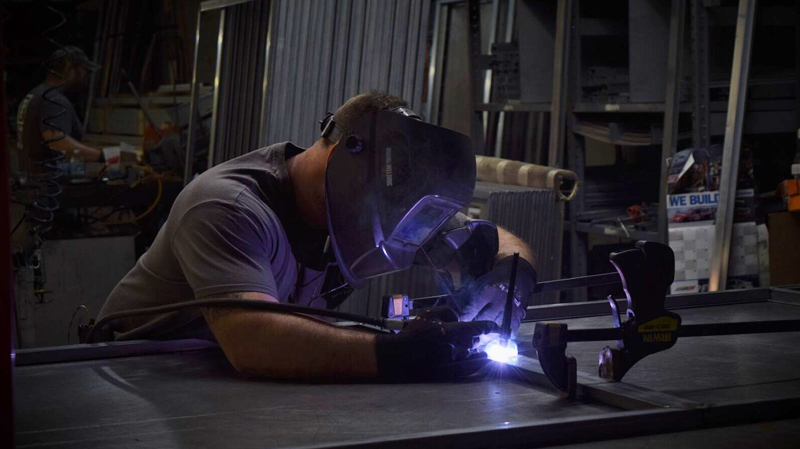 Welding at Lansing Housing Products
